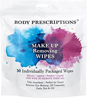 Body Prescriptions Makeup Removing Wipes Individually Packaged 30 Count