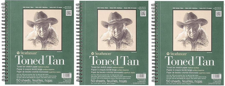 Strathmore 412-9 400 Series Toned Tan Sketch Pad, 9