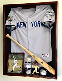 Sports Jersey Display Case Select Your Size 98% UV Lockable 3 Sizes to Choose Uniform Jacket Frame