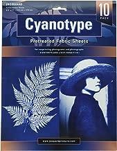 "Jacquard Cyanotype Pretreat 8.5"" x 11"" Fabric Sheet (10 Pack), Blue"