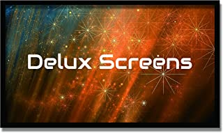 Delux Screens 120 inch 4K/8K Ultra HDR Projector Screen - Active 3D Ready - 6 Piece Fixed Frame - Home Theater Movie Projection Screen - Silver HIGH Contrast - Velvet Border (120