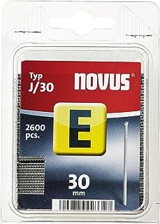 Novus spijkers 30 mm lengte, 2600 stuks van het type J/30, optimaal hechtmiddel voor het bevestigen van sierlijsten en hoe...