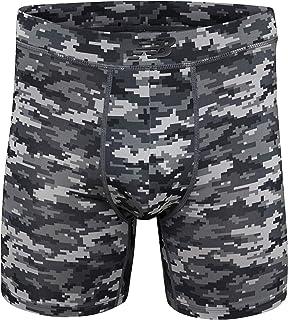 "New Balance Men`s Dry Fresh 6"" Boxer Brief Underwear with Bonded Pocket"