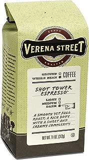 Verena Street 11 Ounce Espresso Beans, Shot Tower Espresso, Whole Bean Dark Roast, Rainforest Alliance Certified Arabica Coffee