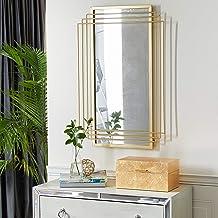 Deco 79 Gold Glam Metal Wall Mirror, 36 x 24