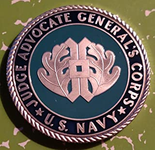 Navy JAG Judge Advocate Generals Corp Military Challenge Art Coin