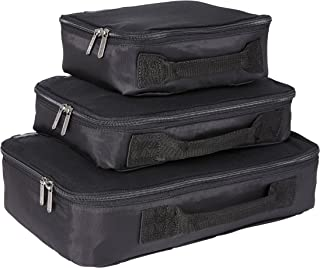 Genius Pack Compression Packing Cubes - Set of 3 (Black)