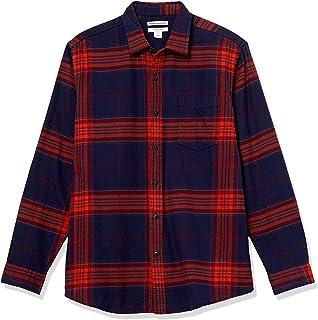 Amazon Essentials Camisa de Franela de Manga Larga de Ajuste Regular. Camisa Hombre