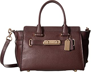 Womens Coach Swagger Carryall 27 In Pebble Leather