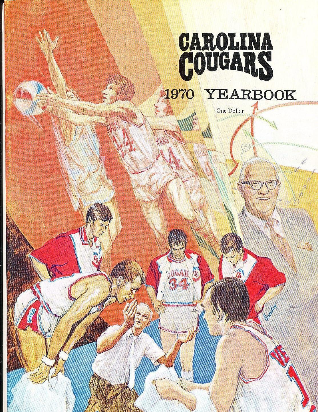 1970 Carolina Cougars ABA Yearbook em/nm yewovcgcmia9