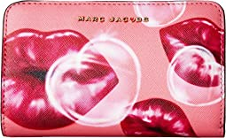 Marc Jacobs Printed Lips Saffiano Compact Wallet