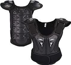 OHMOTOR Kid Body Armor Armour Jacket Children Chest Back Spine Protector Vest (Black, L)