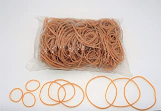 Progom - Elastiques caoutchouc - blond - tailles assorties - longueur à plat : 30mm, 60mm, 80mm - largeur : 1.7mm - sachet...