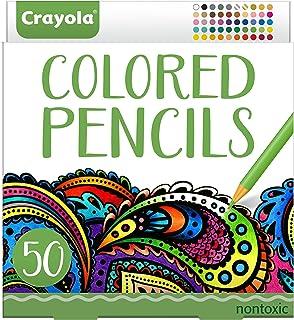 مداد رنگی Crayola، قبل از برش، رنگ آمیزی بزرگسالان، 50 تعداد، Stocking Stuffer، هدیه