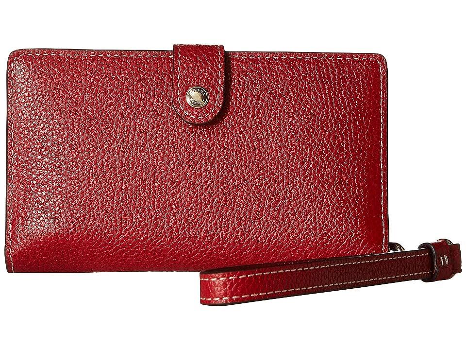 COACH Boxed Phone Wristlet (LI/1941 Red) Wristlet Handbags
