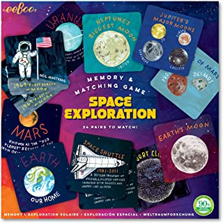 eeBoo Space Exploration Memory Matching Game for Kids, Ages 3 Years and Up