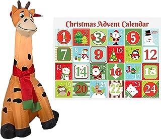 blow up christmas giraffe