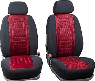 RIMERS Vordersitzbezüge Stripes Rot Universal Autositzbezüge Sitzbezüge Schonbezüge