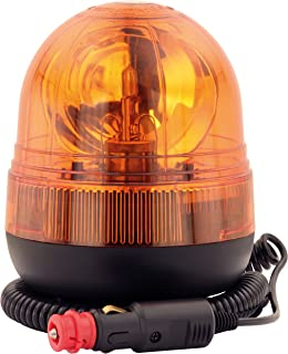 AdLuminis Halogen Rundumleuchte Orange, Ei-Form Mit Magnetfuß, Blinkleuchte 12V 24V, ECE R65 Straßenverkehr Zulassung, KFZ Warnleuchte