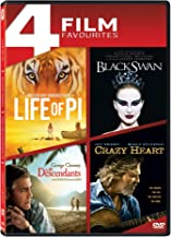 4 Movies Collection: Life of Pi + Black Swan + The Descendants + Crazy Heart