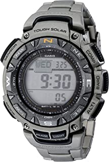 Casio Men's PAG240T Pathfinder Triple-Sensor Stainless...