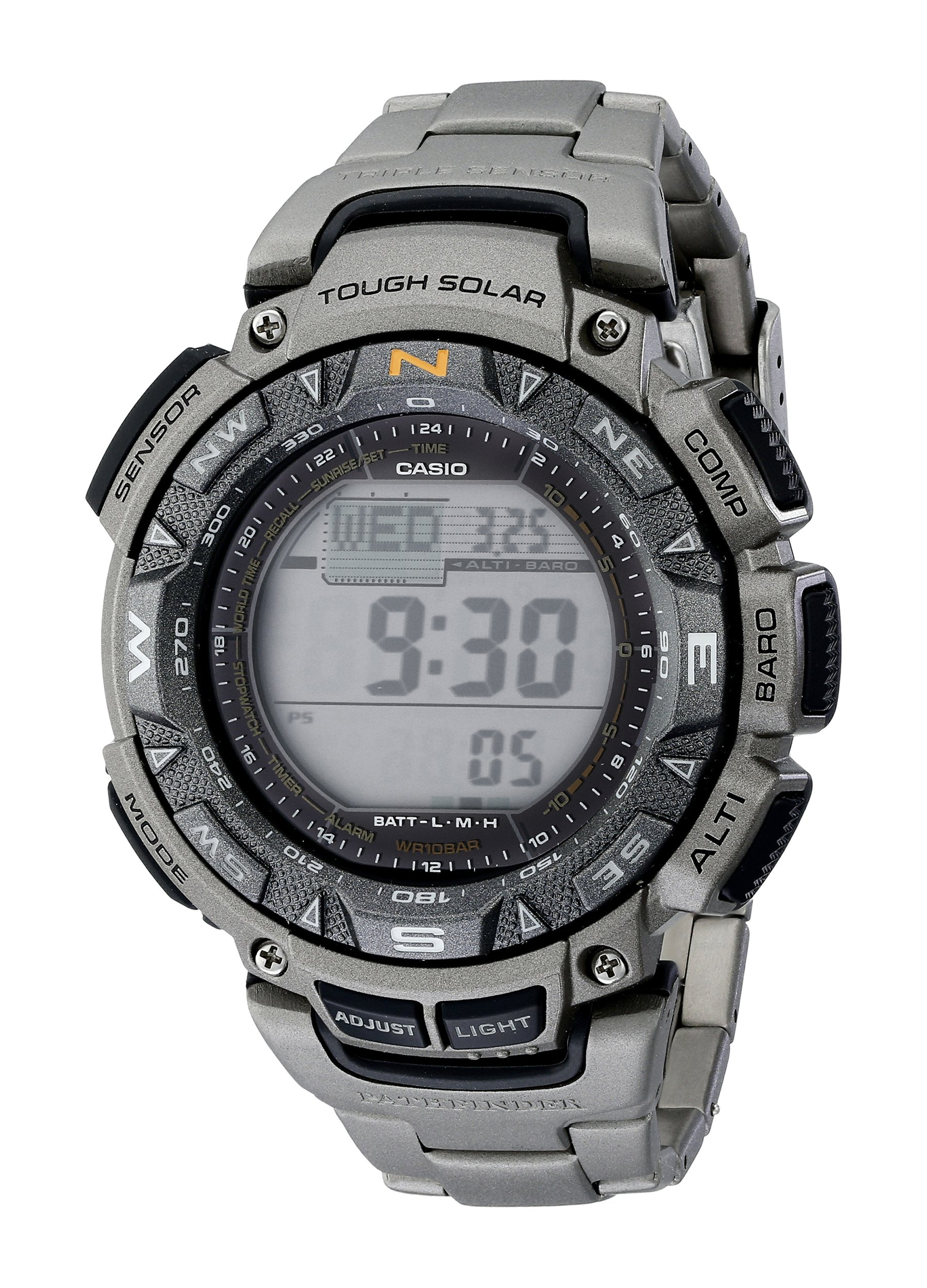 Casio PAG240T 7CR Pathfinder Triple Sensor Stainless