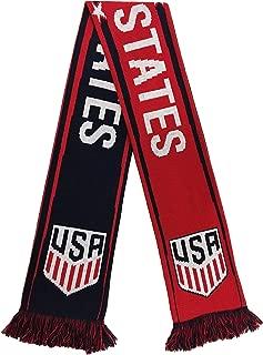 Ruffneck Scarves Official US Soccer Scarf - 4 USMNT & USWNT Designs (Red, White & Blue)