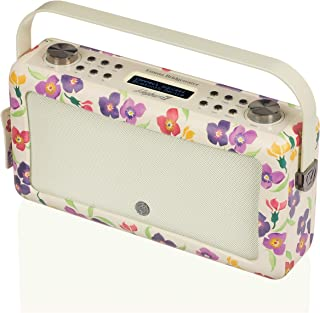 VQ Hepburn Mk II DAB & DAB+ Digital Radio with FM, AM, Bluetooth & Alarm Clock – Emma Bridgewater WallFlower, (VQ-HEPMKII-...