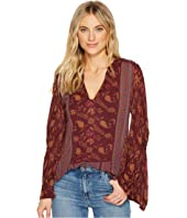 Lucky Brand - Mix Print Peasant Top