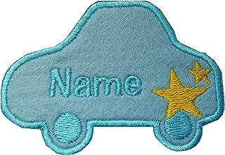 Parche bordado de coche con bordado personalizado en el nombre de la insignia Sew on(permanent solution) azul