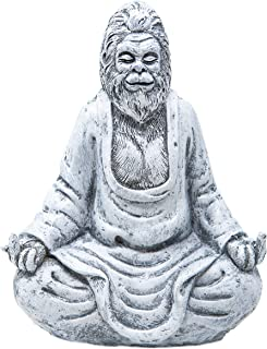 Funny Guy Mugs Garden Gnome Statue - Middle Finger Bigfoot - Indoor/Outdoor Garden Gnome Sculpture for Patio, Yard or Lawn