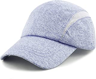 f54f204eb16e6 THE HAT DEPOT Quick Dry Breathable Lightweight Performance Running Mesh  Sports Low Profile Cap