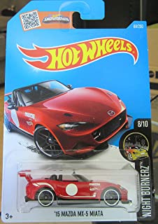 Hot Wheels 2016 Night Burnerz `15 Mazda MX-5 Miata 88/250, Red