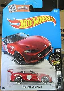Hot Wheels 2016 Night Burnerz '15 Mazda MX-5 Miata 88/250, Red