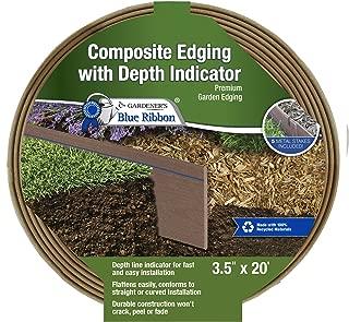 Gardener's Blue Ribbon 903010BR Composite Lawn Edging, One Size, Cedar/Brown