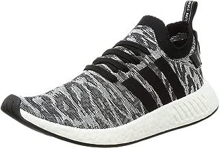 adidas Mens NMD R2 Primeknit Core Black White Textile Trainers 9 US