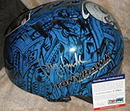 Tony Hawk Signed Full Size Huckjam Series Bell Helmet Coa T70921 - PSA/DNA Certified - Autographed Extreme Sports Products