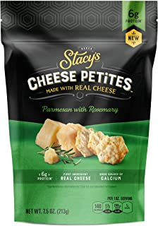 Stacy's Cheese Petites Cheese Snack, Parmesan & Rosemary, 7.5 Ounce Bag, 2 Pack