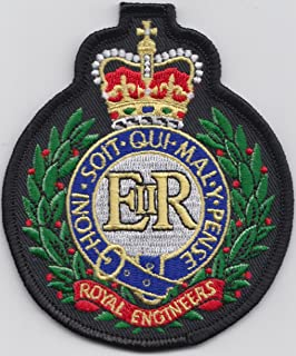 MOD approved - British Army Royal Engineers Embroidered Crest Badge Blazer Patch
