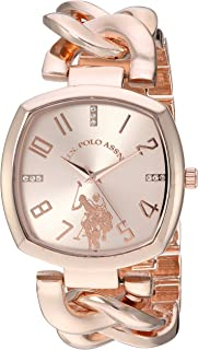 U.S. Polo Assn. Women's Quartz Watch, Analog Display and Gold Plated Strap USC40251