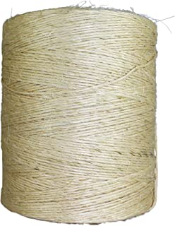 Unoiled Sisal Twine (8000 ft) - SGT KNOTS - 100% Natural Fiber Twine - Food Safe Eco Friendly - Crafting, Growing Hops for Beer Brewing, Cucumber Twine, Agriculture, Farming