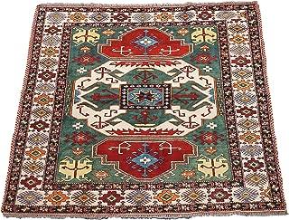 MORugs Square 6X6 Fine Pak Kazak Area Rug Green Hand-Knotted Wool Carpet (6 x 6.2)
