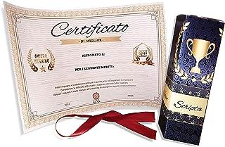 Regalo originale divertente -Certificato scherzo Attestato da personalizzare per ricorrenze celebrazioni laurea diploma co...