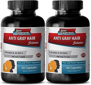 Vitamin B6 Natural - Anti Gray Hair - Fo ti Root Powder in Capsules (2 Bottles - 120 Capsules)