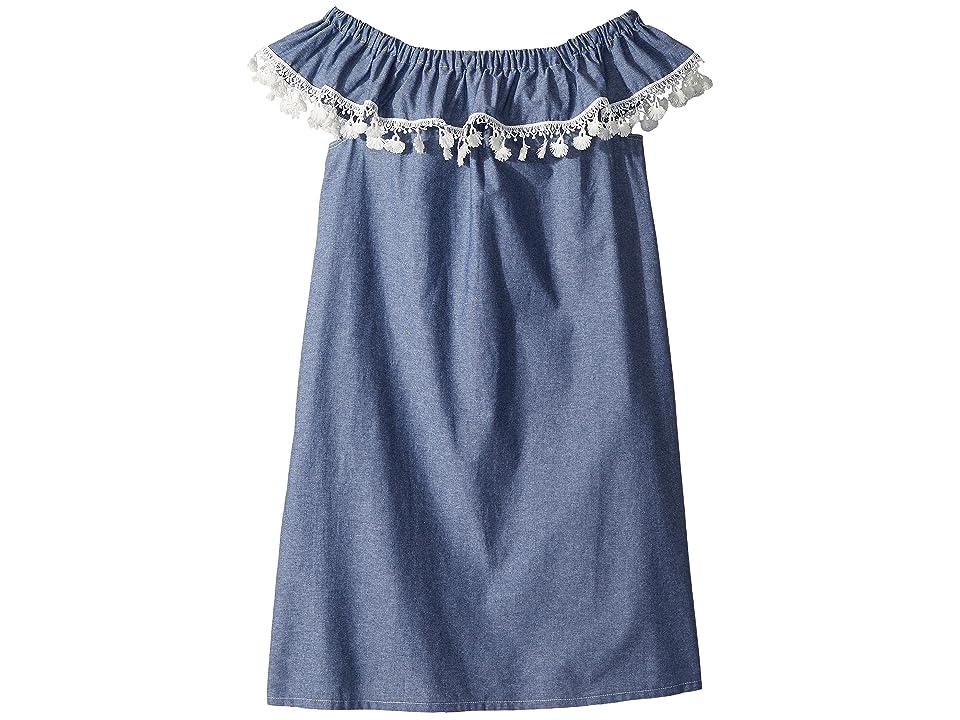 fiveloaves twofish Catalina Dress (Little Kids/Big Kids) (Denim) Girl