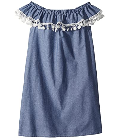 fiveloaves twofish Catalina Dress (Little Kids/Big Kids) (Denim) Girl