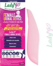 Lady Go Reusable Female Urinal Device With Free Satin Carry Pouch (Pink)