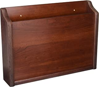 Wooden Mallet Privacy Chart Holder, HIPAA Compliant, Letter Size, Mahogany