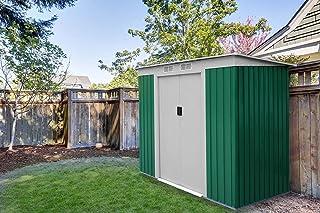 Caseta Cobertizo de Metal verde para Jardin Room Verde
