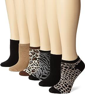 Women's 6 Pack Novelty No Show Low Cut Socks